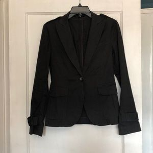 Theory cotton one button blazer